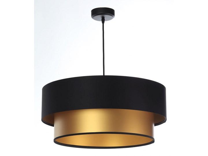 Lampa Wisząca Fiona New Czarno-złota 40cm Kolor Czarny Lampa z abażurem Kolor Złoty