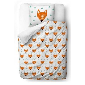 Bawełniana pościel dziecięca Mr. Little Fox Orange Heads, 100x130 cm