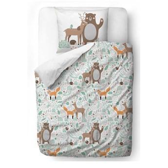 Dziecięca pościel z satyny bawełnianej Mr. Little Fox Fox Dear Friends, 100x130 cm