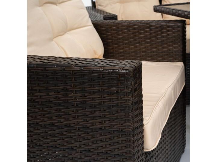 MEBLE OGRODOWE ZESTAW Z TECHNORATTANU DLA 7 OSÓB - 1090 BRĄZ - 6 CZĘŚCIOWY Stoły z krzesłami Zestawy wypoczynkowe Zawartość zestawu Fotele