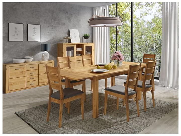 Stół dębowy Natur 180 + 2x40cm Soolido Meble Długość 180 cm  Szerokość 90 cm Szerokość 80 cm Drewno Kolor Brązowy