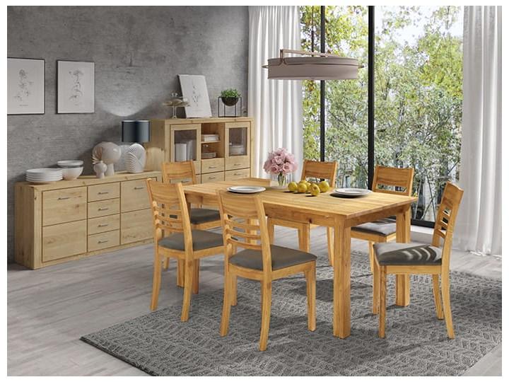 Stół dębowy Natur 160 + 2x40cm Soolido Meble Kolor Brązowy Szerokość 90 cm Długość 160 cm  Drewno Rozkładanie Rozkładane