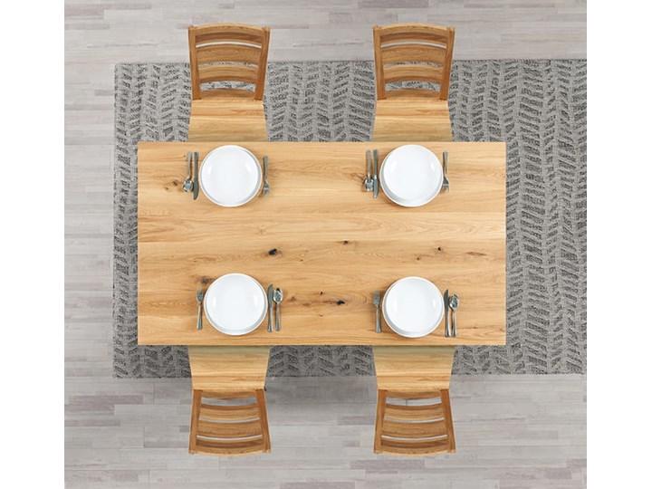 Stół dębowy Natur 160 + 2x40cm Soolido Meble Długość 160 cm  Szerokość 90 cm Drewno Kolor Brązowy Pomieszczenie Stoły do jadalni