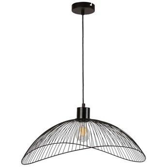 Wisząca LAMPA druciana NUNEZ PND-1702-1-L-B Italux metalowa OPRAWA kopuła ZWIS hygge czarny