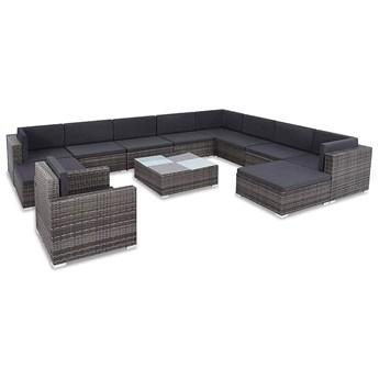12-częściowy zestaw ogrodowy z krzesłem i stolikiem szary - Bero 12A