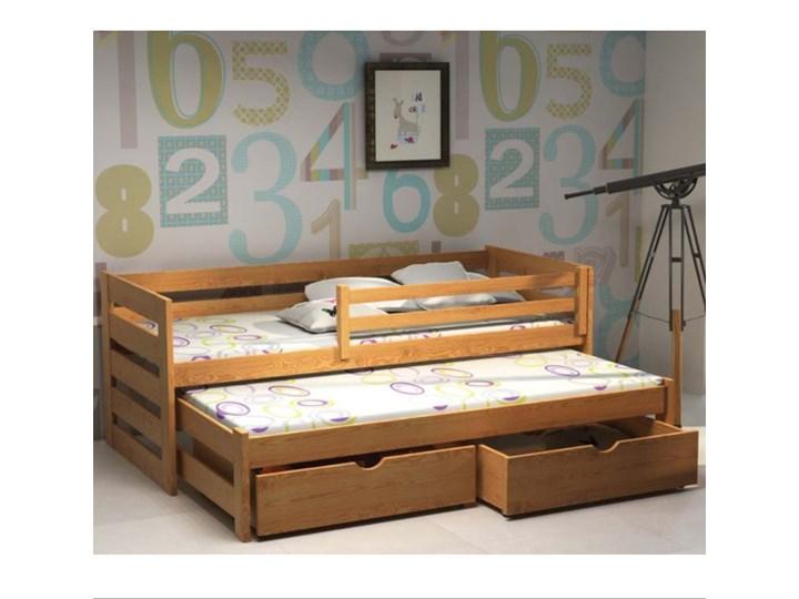 Łóżko pojedyncze z wysuwem KACPER wiele rozmiarów i kolorów Kategoria Łóżka dla dzieci Drewno Kolor Brązowy