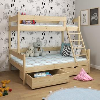 Łóżko piętrowe 3-osobowe IRIS wiele rozmiarów i kolorów