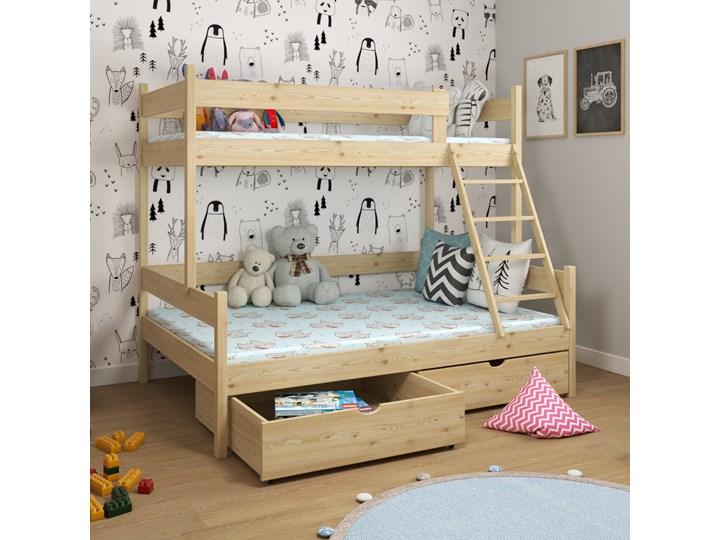 Łóżko piętrowe 3-osobowe IRIS wiele rozmiarów i kolorów Drewno Kategoria Łóżka dla dzieci Kolor Beżowy