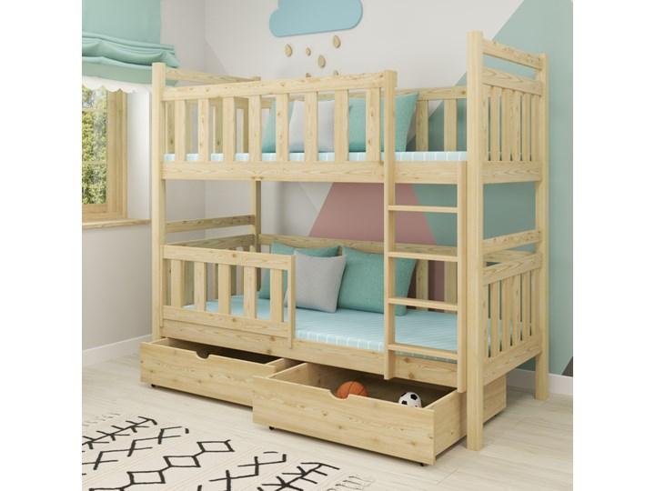 Łóżko piętrowe MICHAŚ PROSTY wiele rozmiarów i kolorów Kategoria Łóżka dla dzieci Kolor Szary