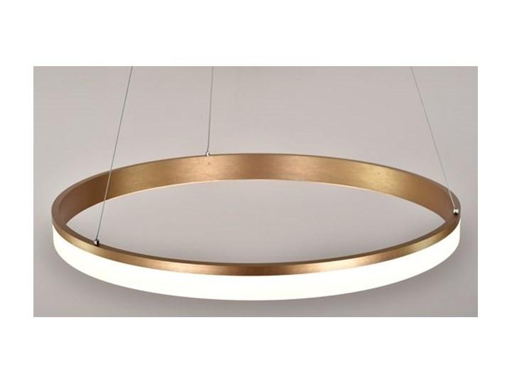 MCODO ::  Nowoczesna lampa led Saturn 48W w kolorze złotym 80cm barwa ciepła 2700K Metal Styl Nowoczesny Tworzywo sztuczne Ilość źródeł światła 1 źródło