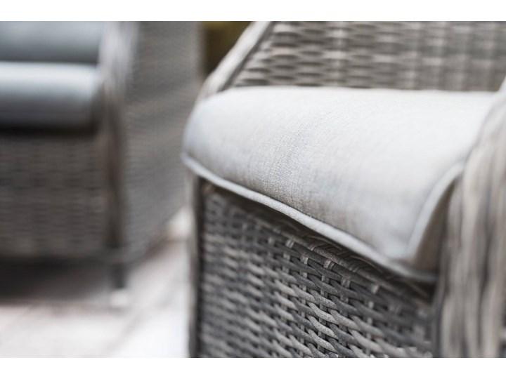 Zestaw mebli ogrodowych SIENA II royal szary Tworzywo sztuczne Aluminium Rattan Technorattan Zestawy wypoczynkowe Zawartość zestawu Stół
