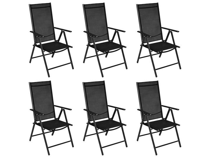 vidaXL 7-częściowy zestaw mebli ogrodowych, aluminium, czarny Zawartość zestawu Krzesła Stoły z krzesłami Zawartość zestawu Stół