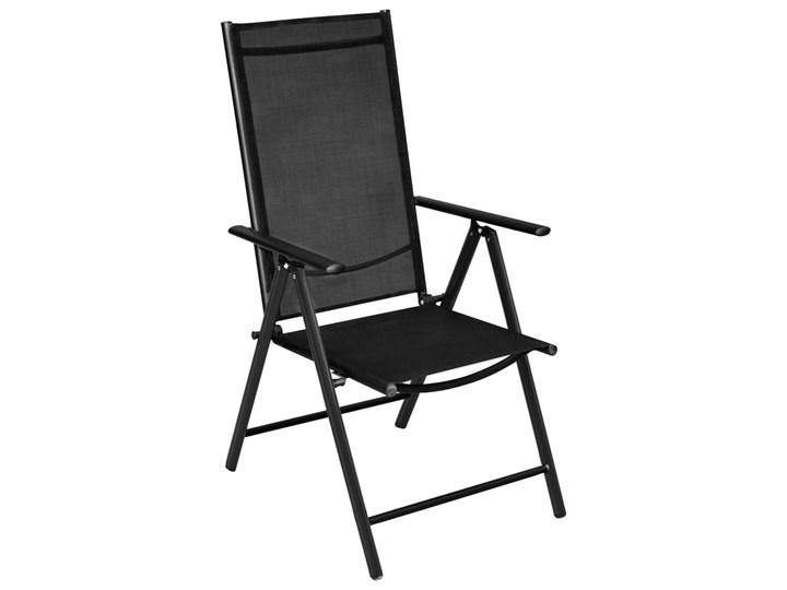 vidaXL 7-częściowy zestaw mebli ogrodowych, aluminium, czarny Zawartość zestawu Fotele Stoły z krzesłami Zawartość zestawu Stół