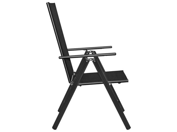 vidaXL 7-częściowy zestaw mebli ogrodowych, aluminium, czarny Stoły z krzesłami Zawartość zestawu Fotele Zawartość zestawu Stół