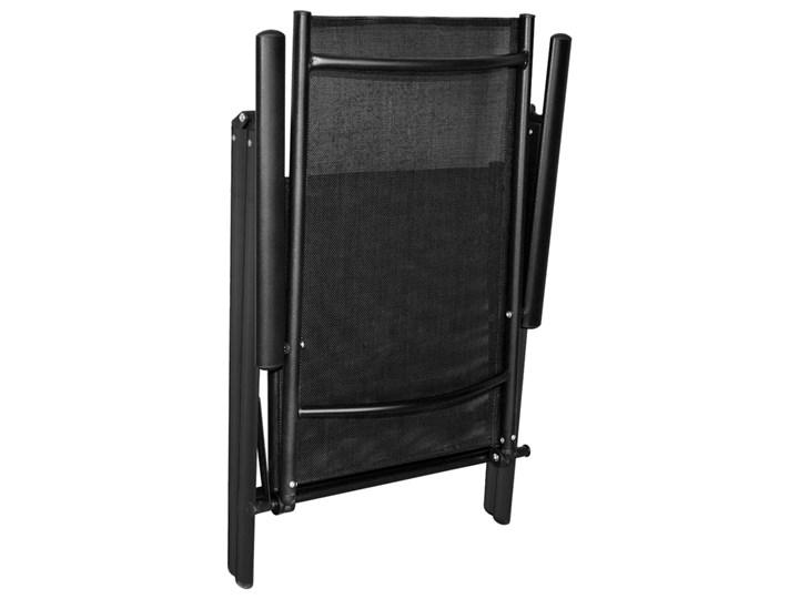 vidaXL 7-częściowy zestaw mebli ogrodowych, aluminium, czarny Stoły z krzesłami Zawartość zestawu Stół