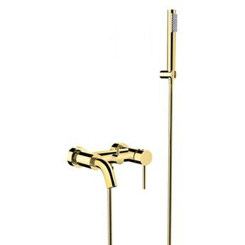 Bateria wannowo-prysznicowa Illusion, ścienna, złota