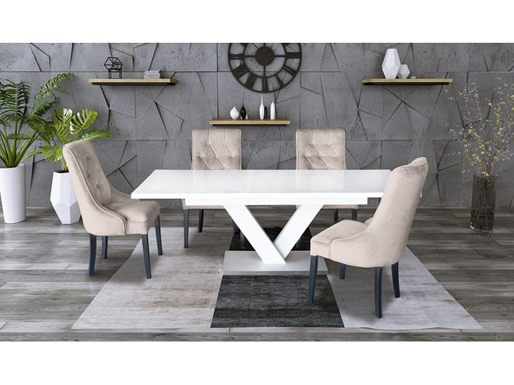 Zestaw stół rozkładany 160x90 cm z krzesłami Drewno Pomieszczenie Stoły do salonu Długość 160 cm  Styl Nowoczesny