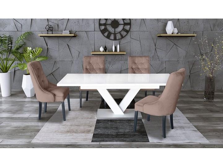 Zestaw stół rozkładany 160x90 cm z krzesłami Długość 160 cm  Drewno Rozkładanie Rozkładane Rozkładanie