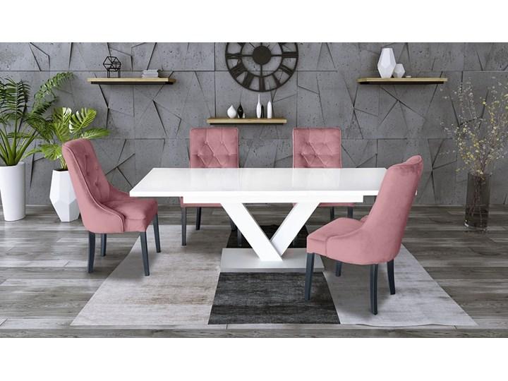 Zestaw stół rozkładany 160x90 cm z krzesłami Długość 160 cm  Drewno Kategoria Stoły kuchenne