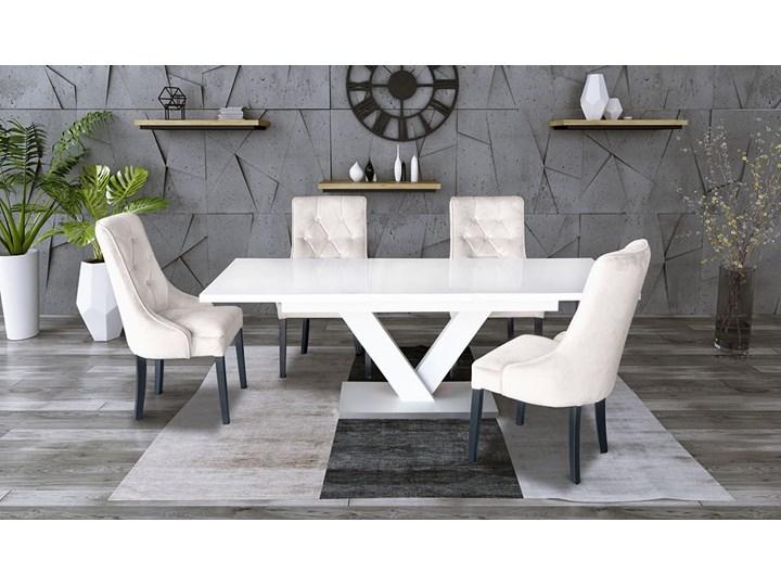 Zestaw stół rozkładany 160x90 cm z krzesłami Długość 160 cm  Drewno Pomieszczenie Stoły do salonu