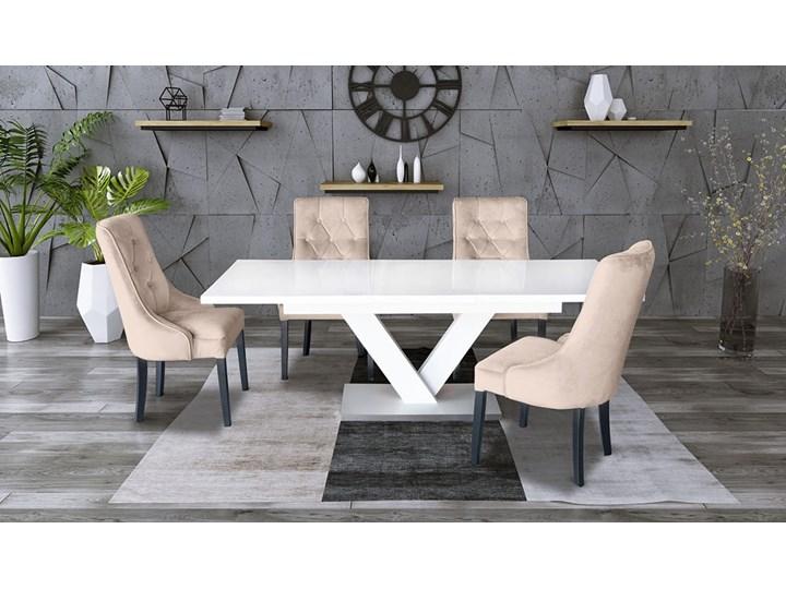 Zestaw stół rozkładany 160x90 cm z krzesłami Długość 160 cm  Drewno Rozkładanie Rozkładane