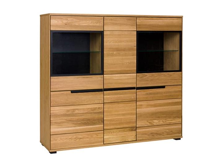 Kredens dębowy Faro Soolido Meble Drewno Pomieszczenie Salon Szuflady Bez szuflad