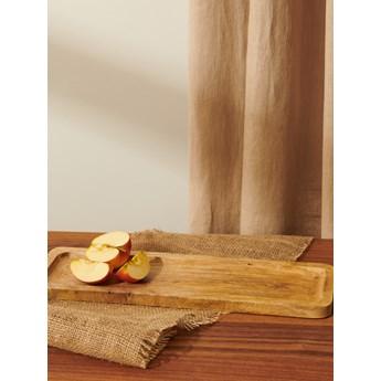 Sinsay - Taca z drewna mango - Beżowy