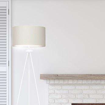 GRAND LP1 WHITE / ECRU 566/4 lampa podłogowa biała duży abażur ercu