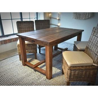 Stół drewniany sosnowy woskowany Rustyk 3 - 160x90 cm - WYPRZEDAŻ