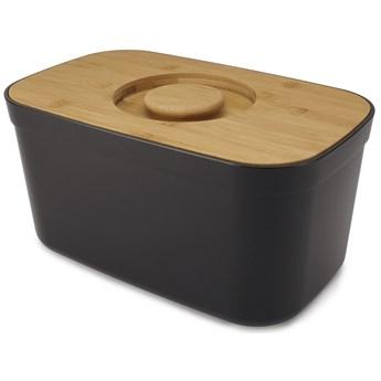 Chlebak z deską do krojenia Bamboo czarny