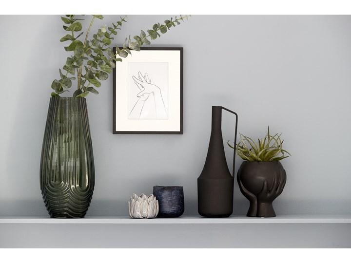 Doniczka Haniya 12x14 cm czarna Doniczka na kwiaty Kolor Czarny