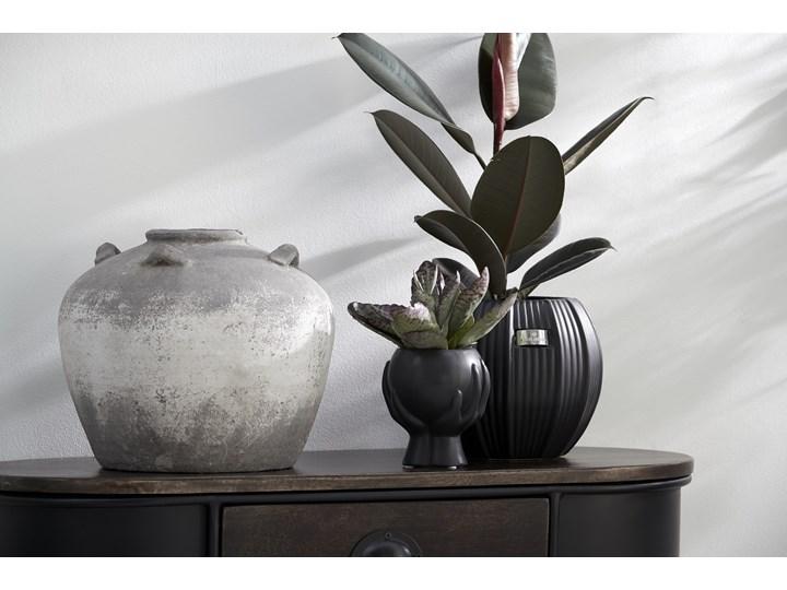 Doniczka Haniya 12x14 cm czarna Kolor Czarny Doniczka na kwiaty Kategoria Doniczki i kwietniki