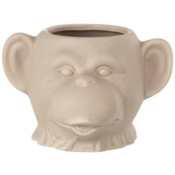 Doniczka Monkey 15x9 cm beżowa