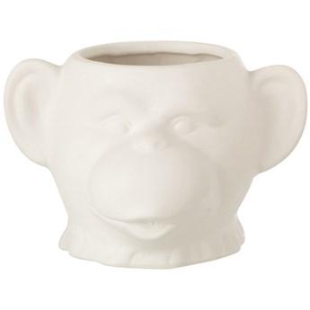Doniczka Monkey 15x9 cm biała