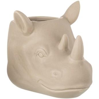 Doniczka Rhino 18x12 cm beżowa