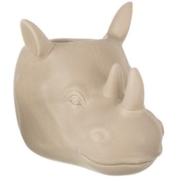 Doniczka Rhino 23x15 cm beżowa