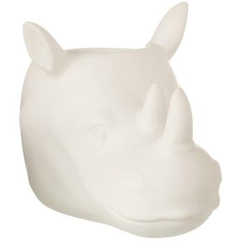Doniczka Rhino 23x15 cm biała