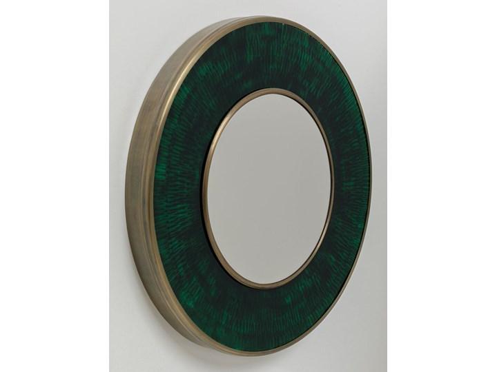 Lustro Lens Ø60 cm zielone Kolor Zielony