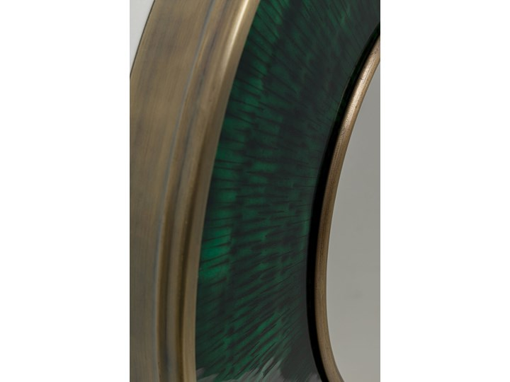 Lustro Lens Ø60 cm zielone Kolor Zielony Kategoria Lustra