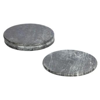 Zestaw Tresa 4 podstawek z szarego marmuru