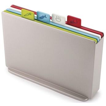 Zestaw 4 desek i stojak Index™ 31x23 cm srebrny