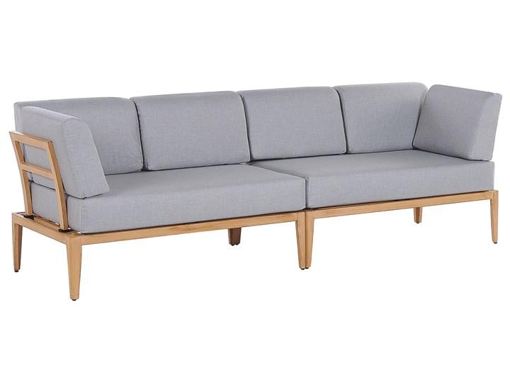 Ogrodowy zestaw wypoczynkowy szary aluminiowa rama poliesterowe poduszki 2 stoliki zestaw na taras Aluminium Zestawy wypoczynkowe Styl Nowoczesny Zestawy modułowe Tworzywo sztuczne Zawartość zestawu Sofa