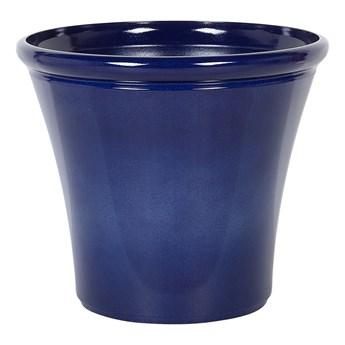 Doniczka niebieska mieszanka gliny 44 x ⌀ 50 cm na zewnątrz