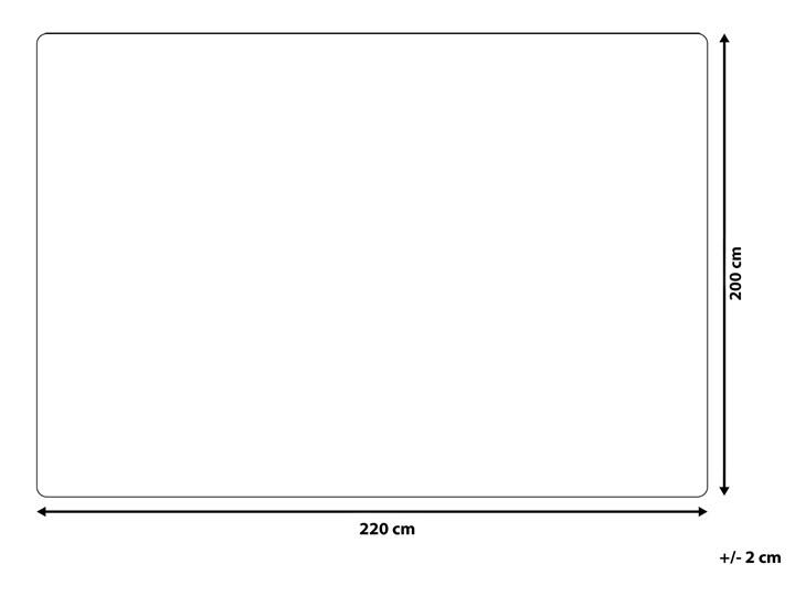Koc biały 200 x 220 cm włochacz narzuta 200x220 cm Pomieszczenie Sypialnia