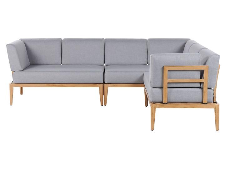 Ogrodowy zestaw wypoczynkowy szary aluminiowa rama poliesterowe poduszki 2 stoliki zestaw na taras Zestawy wypoczynkowe Zawartość zestawu Sofa Tworzywo sztuczne Zestawy modułowe Aluminium Styl Nowoczesny