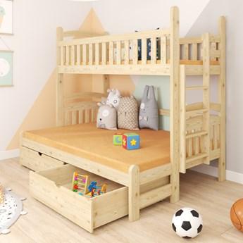 Łóżko piętrowe 3-osobowe DENIS wiele rozmiarów i kolorów