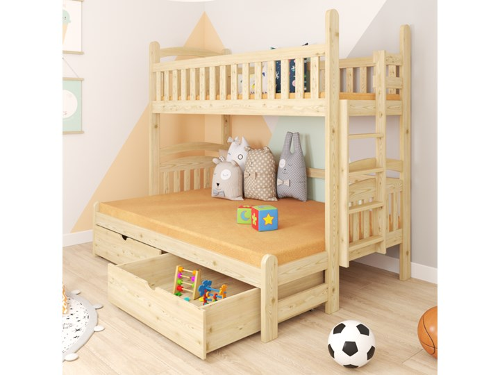 Łóżko piętrowe 3-osobowe DENIS wiele rozmiarów i kolorów Liczba miejsc Trzyosobowe Kategoria Łóżka dla dzieci