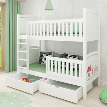Łóżko piętrowe CZAREK wiele rozmiarów i kolorów