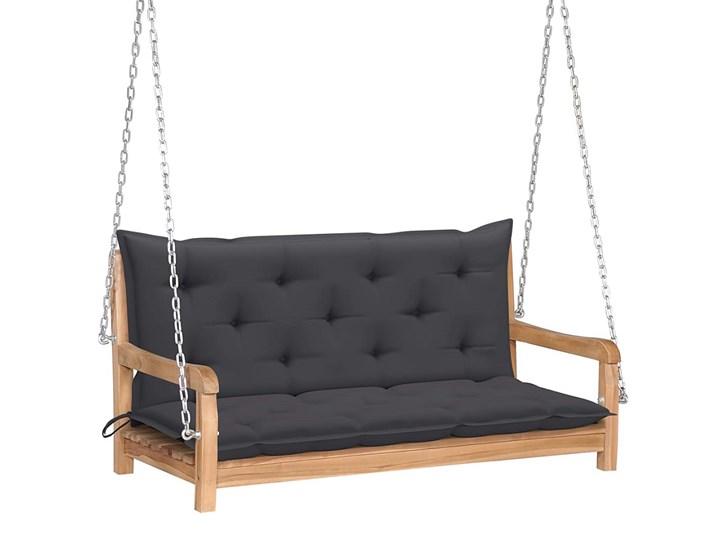 Drewniana huśtawka z antracytową poduszką - Paloma 2X