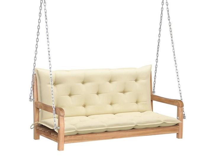 Drewniana huśtawka z kremową poduszką - Paloma 2X Typ Huśtawka ze stelażem Kolor Beżowy